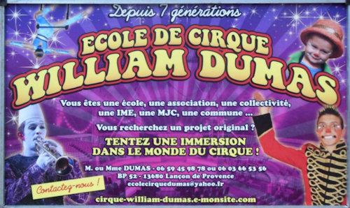 Panneau pub ecole de cirque 2015